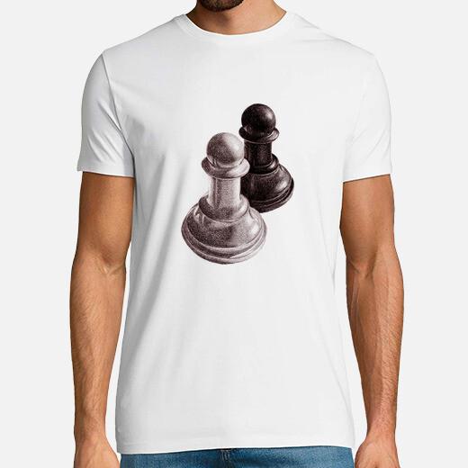 peones de ajedrez en blanco y negro