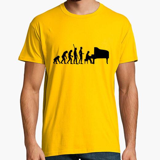 Piano evolución pianista camiseta hombre...