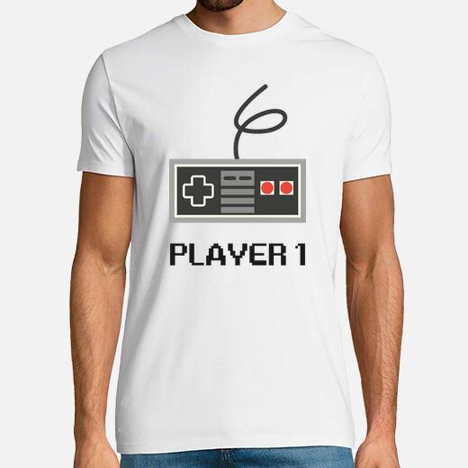 Player 1, dad, gaming t-shirt