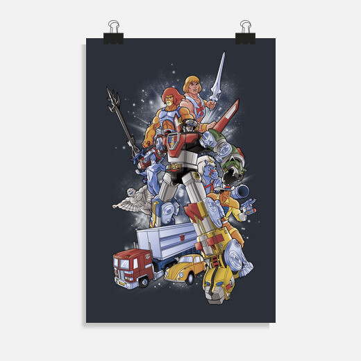 Póster 80S HEROEs
