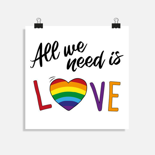 Póster ALL WE NEED IS LOVE