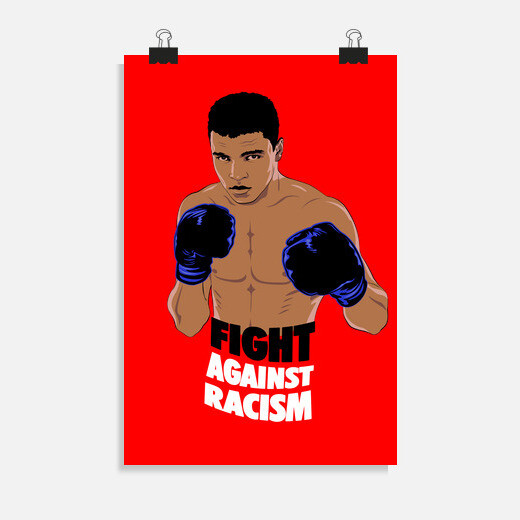 Póster Fight Against Racism