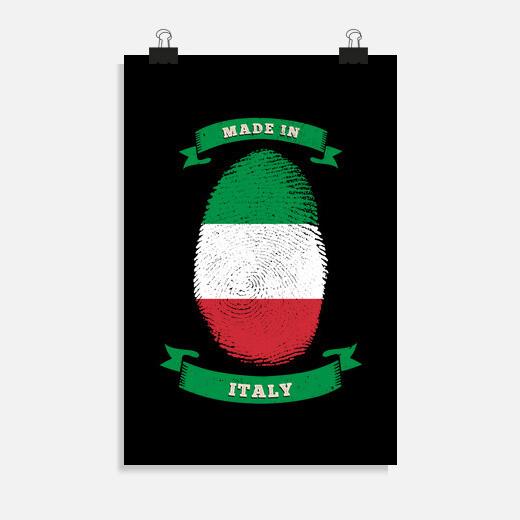 Póster Hecho en Italia cumpleaños de...