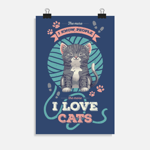 Póster I Love Cats
