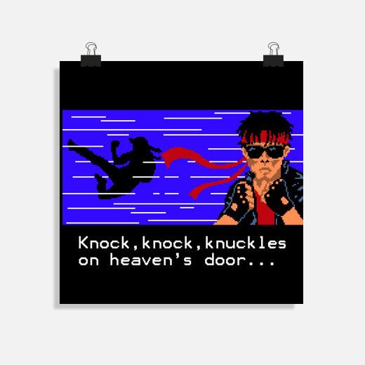 Póster knock knock knuckles