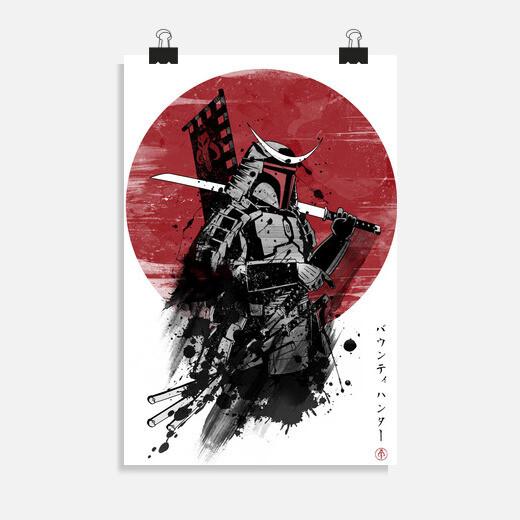 Póster Mandalorian Samurai