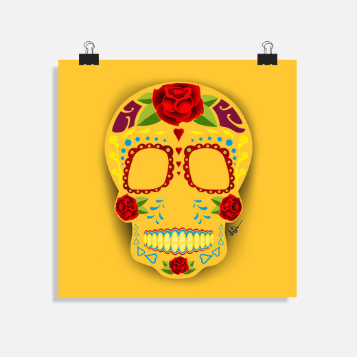 Póster Mexican style Sugar Skull !!!