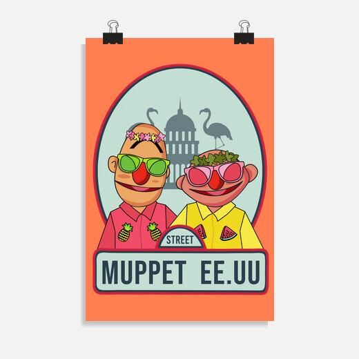 Póster Muppet Honolulu