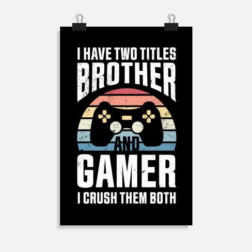 Póster niños juegos regalo hermano...
