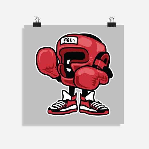 Póster Puncher man