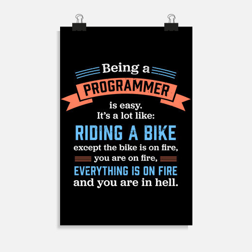 Póster ser un programador divertido...