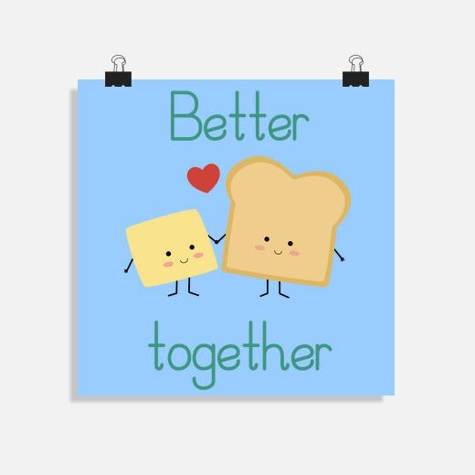 Póster Tostada y mantequilla