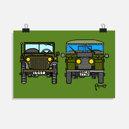 Póster WILLYS & LAND ROVER