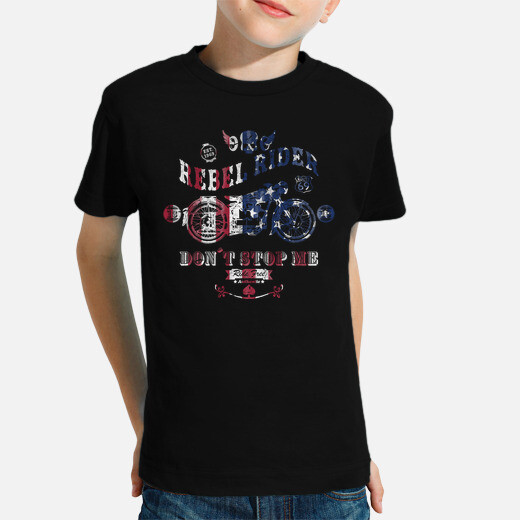 Rebel rider don't stop me kids clothes
