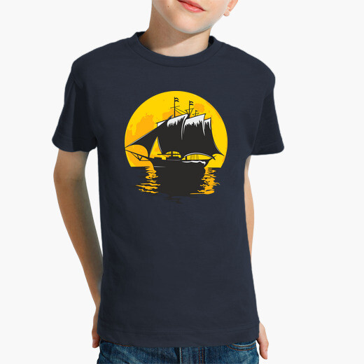 Ropa infantil barco de vela bajo la luna