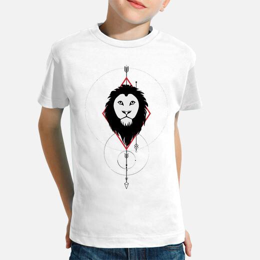 Ropa infantil Camiseta 'León en geometría'