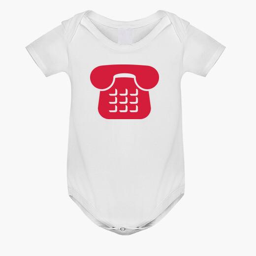 Ropa infantil icono de teléfono rojo