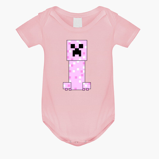 Ropa infantil Minecraft PINK Creeper (BABY)