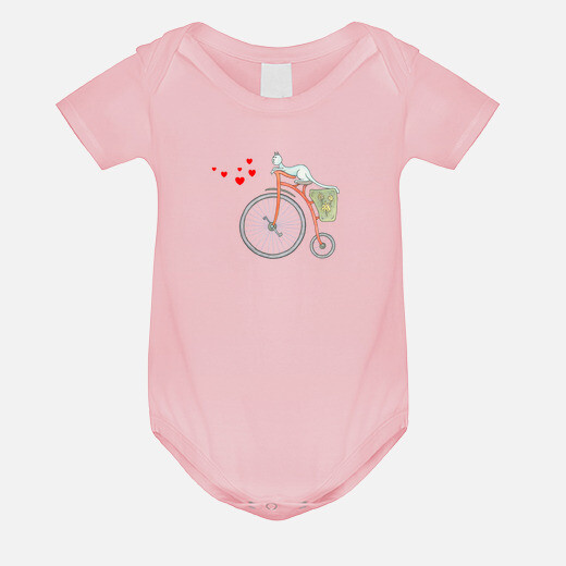 Ropa infantil Red vintage bicycle with...
