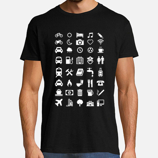 Shirt with emoticons for travelers t-shirt