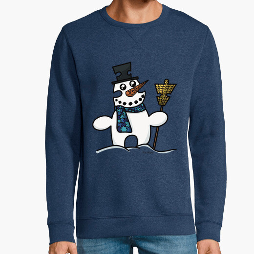 Snowman puzzle hoodie