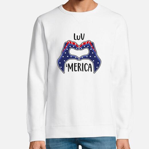 Sudadera amor estados unidos america...