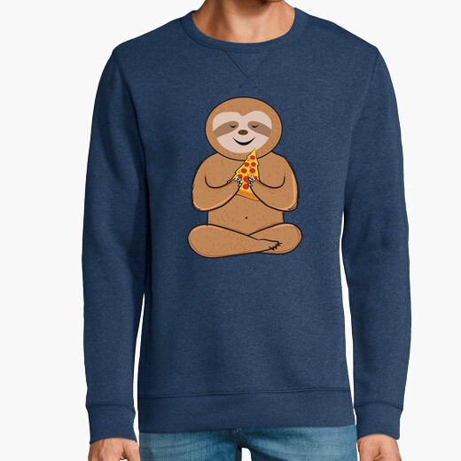 Sudadera funny sloth pizza lovers colorful