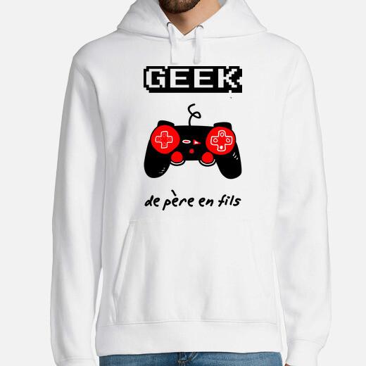 Sudadera geek de padre a hijo
