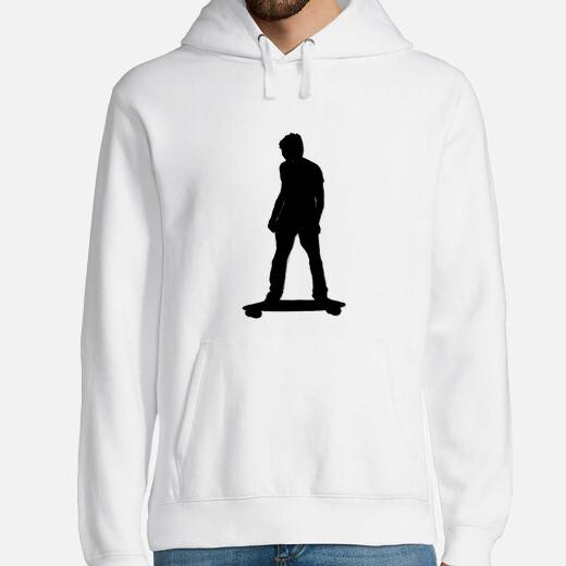 Sudadera Hombre, jersey con capucha, blanco