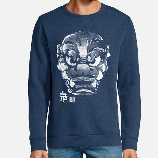 Sudadera Máscara Japonesa Demonio Kanji...
