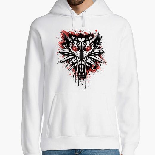 Sudadera Splatter White Wolf