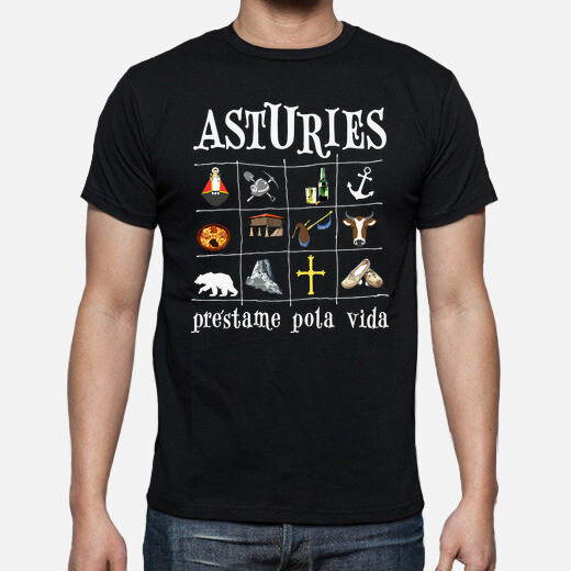 T-shirt 2017 asturies sfondo scuro -...