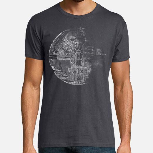 T-shirt death star grey