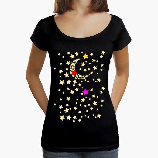 T-shirt la luna e le stelle cavalieri
