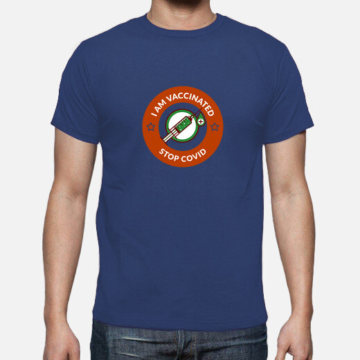 t shirt homme i am vaccinated