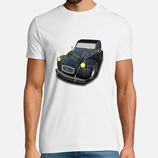 Tee-shirt 2cv écossaise
