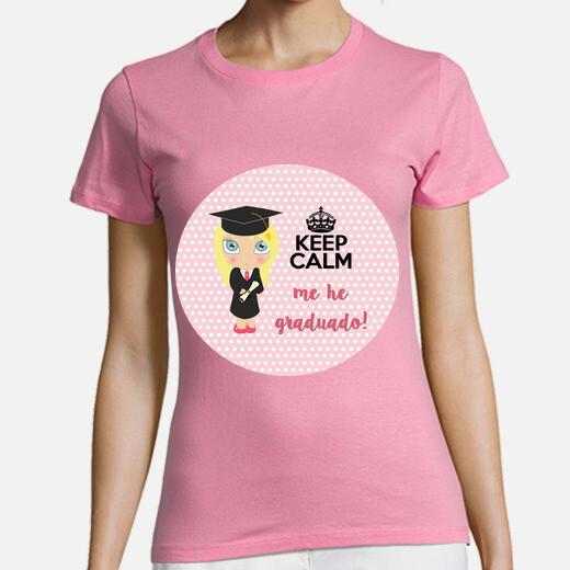 Tee-shirt graduation keep calm - femme,...