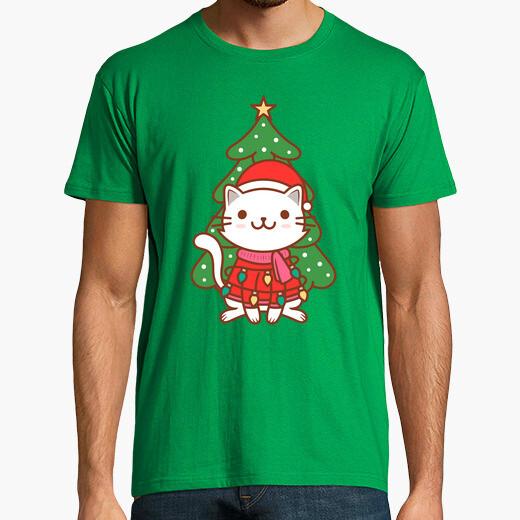 Tee-shirt illustration mignonne de chat de...