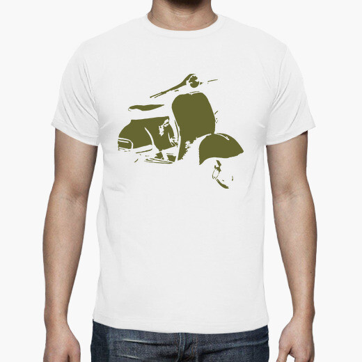 Tee-shirt scooter olive