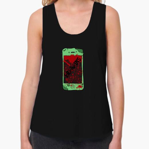 Tee-shirt shirt femme sangles zombiephone