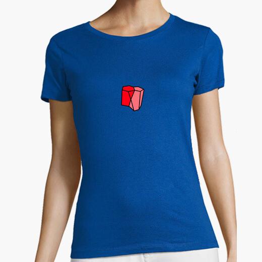 Tee-shirt t-shirt court femme design escutoid