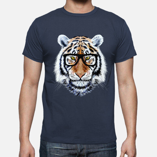 tiger face with glasses