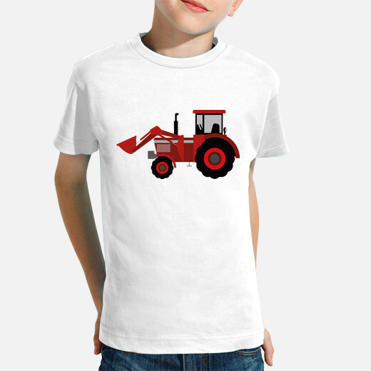 tractor / pala / agricultura / rojo