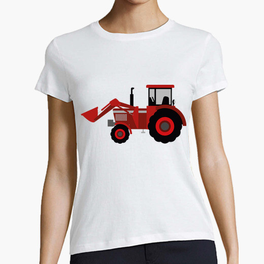 Tractor / shovel / agriculture / red t-shirt