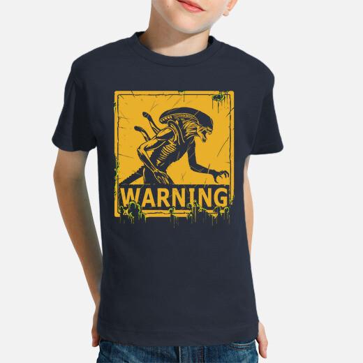 Warning kids clothes