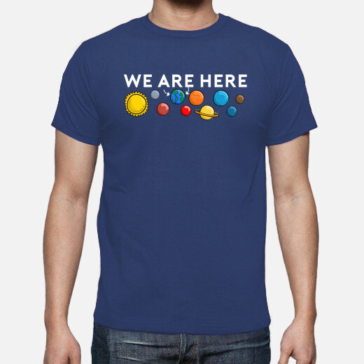 We are here earth planet solar system...