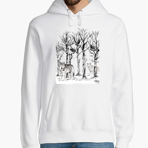 Winter in the forest hoodie
